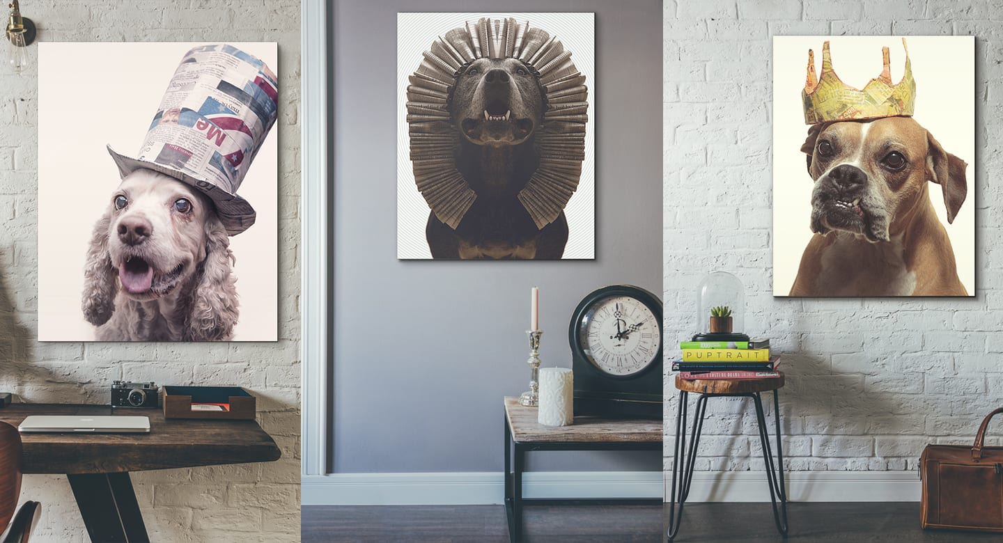 Ready-to-hang large format art prints and dog lover will cherish for a lifetime