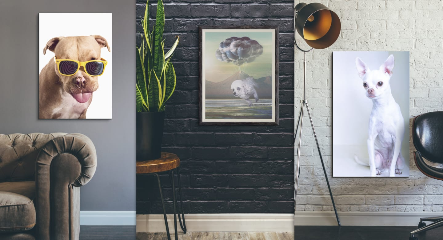 Contemporary portrait art for the modern dog lover
