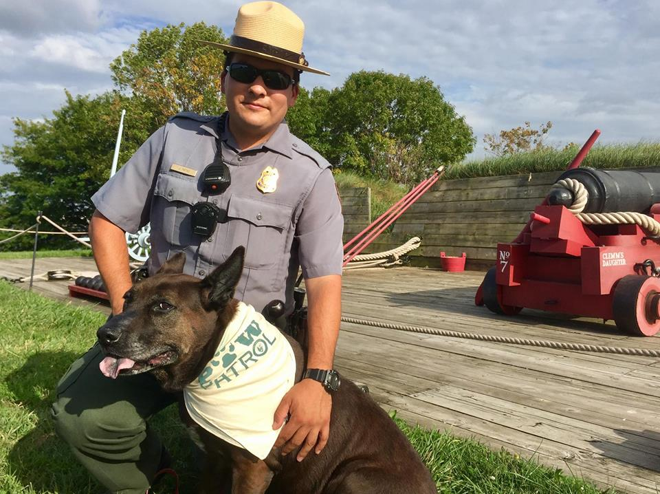 Dogs take over the Fort McHenry National Monument & Historic Shrine