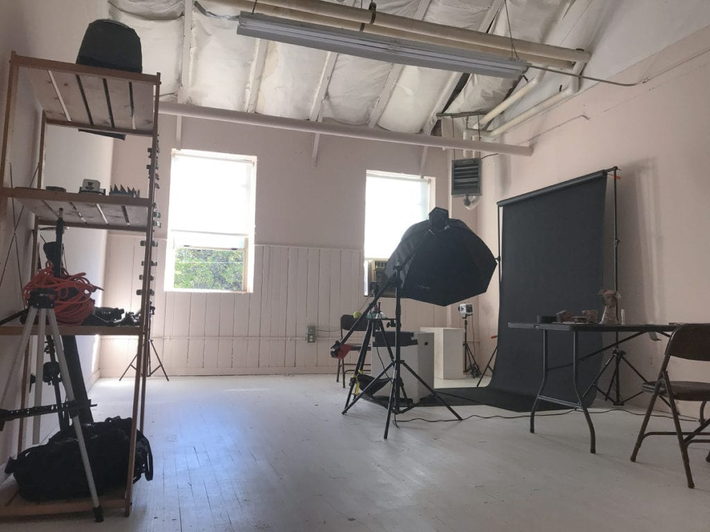 Interior photo of the Puptrait Studio in Baltimore.