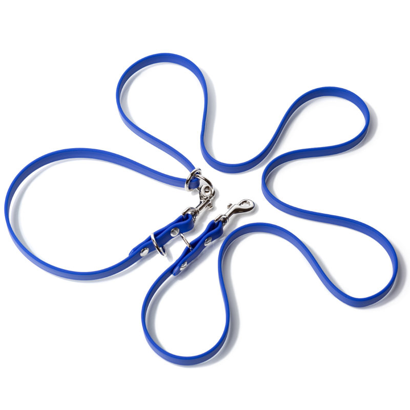 pet product photography of leash on white background